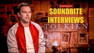 Tolkien Movie Cast Interviews (Nicholas Hoult, Lily Collins, Director)