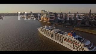 HAMBURG in 4K-UHD - Ein Kurztrip - Aerial View Drone - Drohne - Hafencity, Elbphilharmonie...