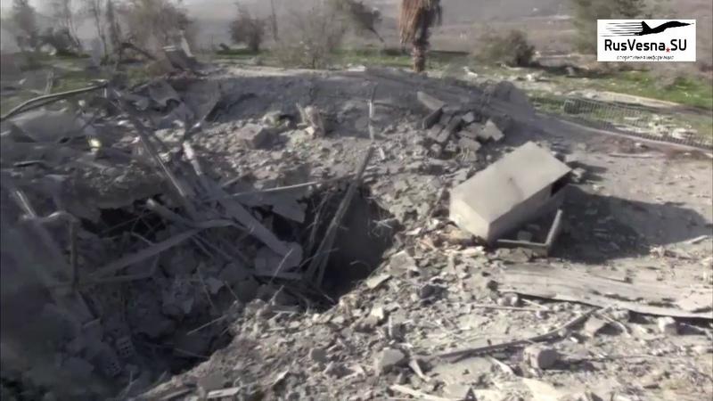 Огненный ад Русвесна побывала на месте ночных авиаударов по Сирии 21 01 19 В результате авиаудара Израиля в этом месте было повреждено здание Съемка 0 30 1 02 непосредственно оттуда