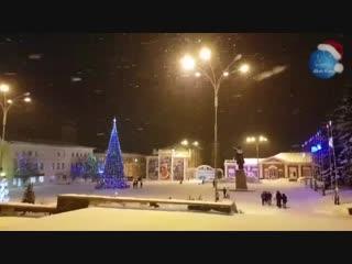 Волшебный снежный, новогодний Елец