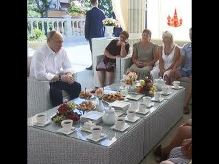 Встреча с пострадавшими от наводнения в Иркутской области