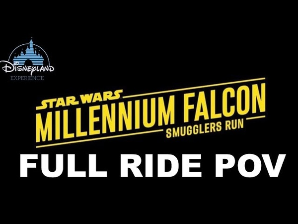 Millennium Falcon Smugglers Run Full Ride POV Star Wars Galaxy's Edge Disneyland Opening Day