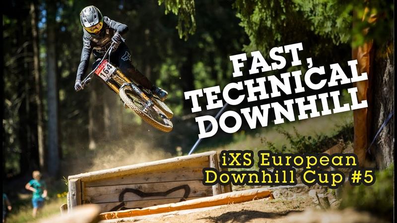 2019 iXS European Downhill Cup Race Action from Spicak, Czech Republic