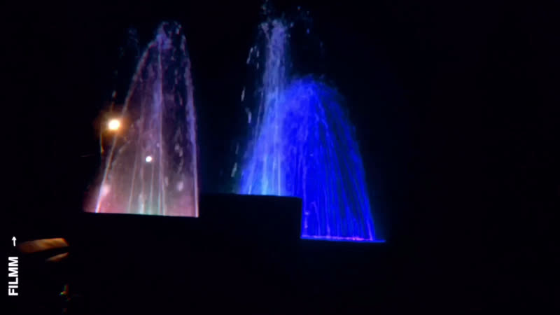Световое представление фонтанов