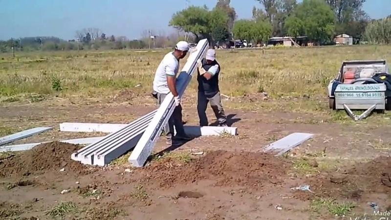 Colocacion de placas de hormigón Cercos Luchetti