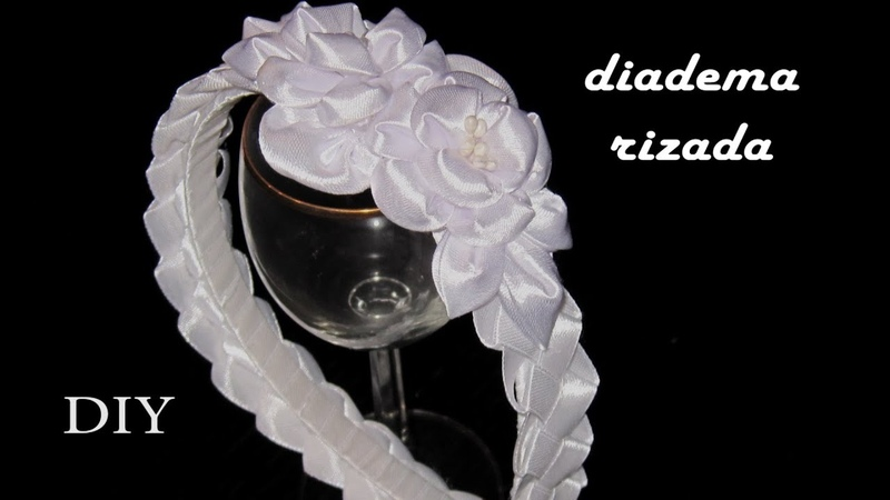 DIY - Diadema rizada- Curly headband- مجعد عقال- фигурная повязка на голову