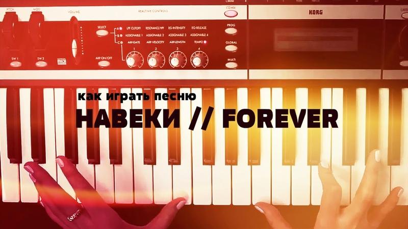 Как играть на синтезаторе песню Навеки Forever
