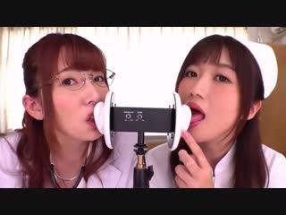 Yui hatano & hibiki  ootsuki. asmr, ear licking