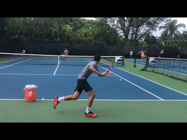 Tennis practice professional training with ATP player and coach Brian Dabul in Miami
