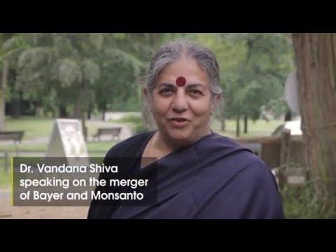 🚯🚫 Dr. Vandana Shiva speaks out against the merger of Bayer Monsanto!