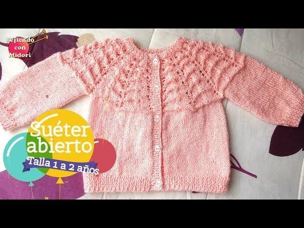 Suéter abierto Talla 1 a 2 años
