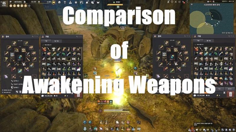 BDO )검은사막65레인저전승 각성무기비교Black Desert 65RangerSuccession Comparison of Awakening Weapons黑色沙漠65遊俠