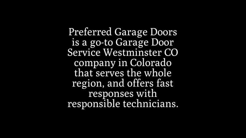 Garage Door Service Westminster