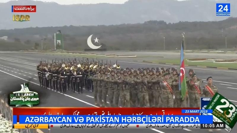 Pakistan Azərbaycan hərbçilərini ayaqda alqışladı Qürurlu görüntülər