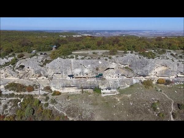 Сюйреньская крепость и Пещерный монастырь Челтер Мармара с Высоты птичьего полета