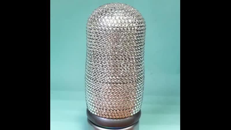 Роскошная 3-х местная матрешка с кристаллами Swarovski💎, на этот раз в серебряном цвете! интерьерныематрешки_ск ⠀ 🌟 Стильное ук