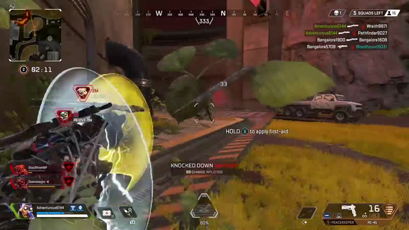 When in the right circumstances, remember that your downed teammates both have a shield with a pretty sizeable health pool attac