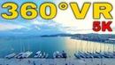 360° VR Hotel Kipseli Perfect View Coffee Shop Panorama Volos Visit Greece 5K 3D Virtual Reality 4K