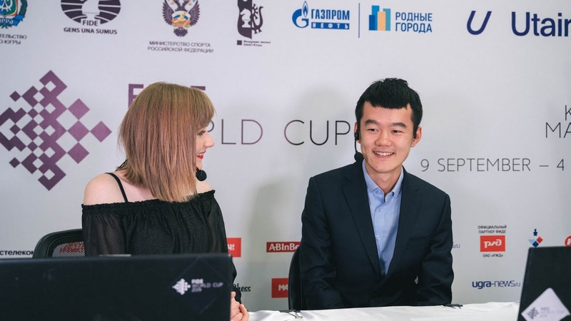 Ding Liren on his win vs Radjabov FIDE World Cup 2019 Final Game 2