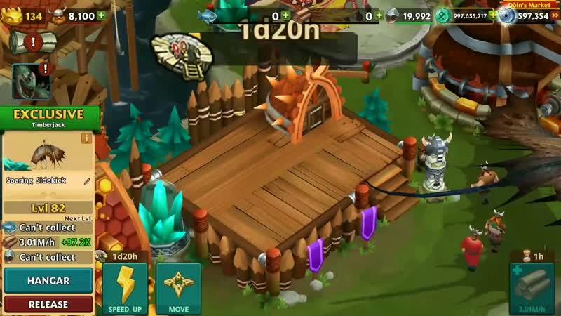 Soaring Sidekick Max Level 134 Titan Mode - Exclusive Timberjack - Dragons_Rise of Berk