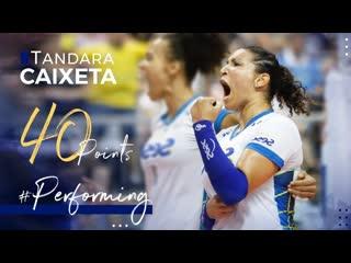 Tandara caixetas performance 40 points at the final match copa brasil 2020