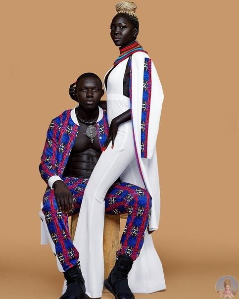 Угольно-черная красотка Nyaim Gatwech