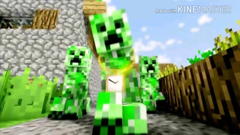 Зелёный няша крипер песня