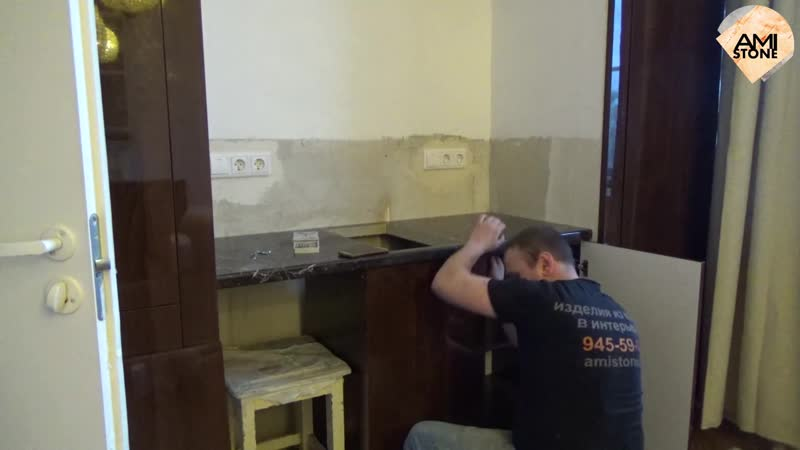 Столешница из мрамора на кухню от Амистоун