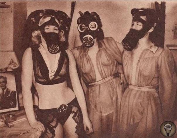 Девушки эротического театра в противогазах, 1941 год, Лондон