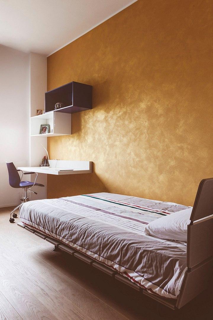 Светлые апартаменты с небольшим количеством ярких красок