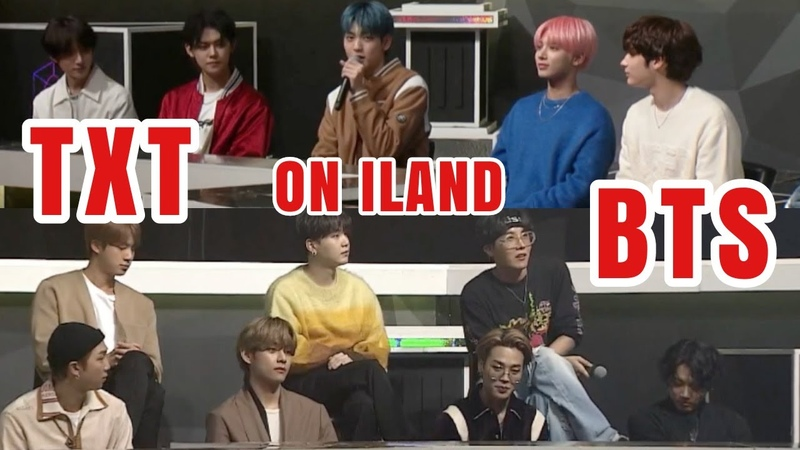 BTS and TXT CUTS on iland - I-LAND EP. 12