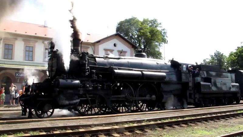Train - railway 22.6.2013 -Rakouská parní lok. 310.23 Hrboun na Kladenském nádraží Vejhybce