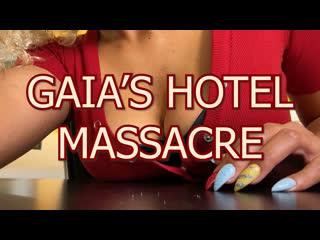 "Giantess gaia | ""gaia's hotel massacre"" | boob, foot, heel, butt crush, vore (trailer)"