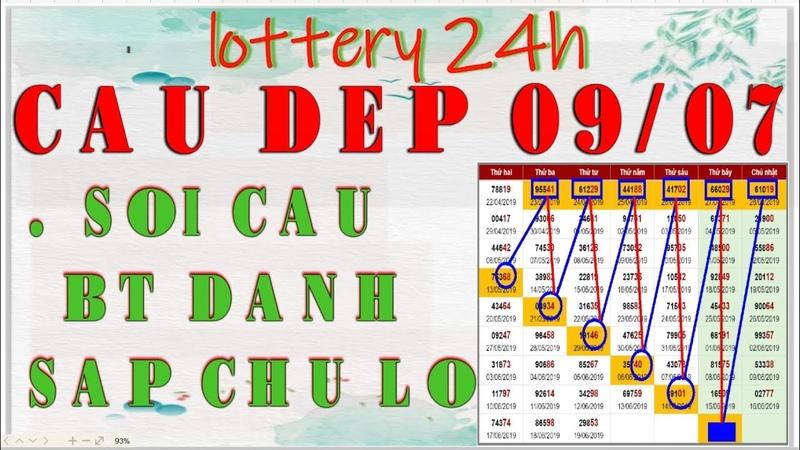 (Lotterh 24h) Soi Cầu Và Chốt Số XSMB 09/07/2019-Cầu BT Lô-Cầu ST Lô-Cầu BT Đề-Dàn Đề Chính Xác 100%