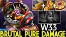 W33 [Timbersaw] Brutal Pure Damage Hard Counter PA Carry 20 Kills 7.22 Dota 2