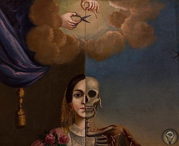 «Аллегория смерти», Томас Мондрагон 1856г.