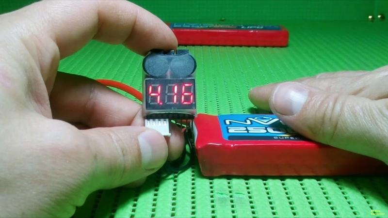 Тестер сигнализатор заряда аккумулятора 1S-8S