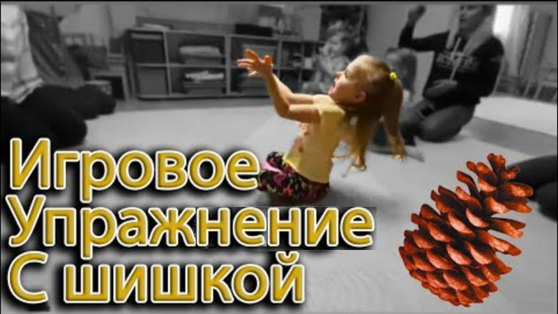 Игровое упражнение с шишкой для дошколят 2 5