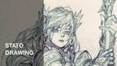 판타지 캐릭터 스케치-띵 10 /Drawing a Fantasy Character / STATO스타토sketch,pencil,drawing
