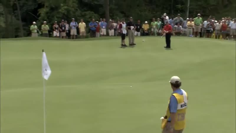 Johny Miller thinks this is an impossible putt from 100 foot out. Golf legend Jack Nicklaus thinks otherwise.