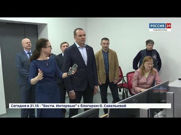 Михаил Игнатьев посетил ГТРК «Чувашия» и посмотрел, как будет осуществляться переход на «цифру»