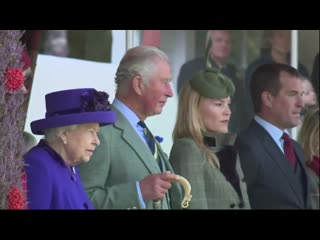 Members of the royal family attended the annual braemar gathering highland games event in scotland