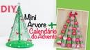 DIY - Decoração de Natal 🎄 Mini Árvore Calendário do Advento