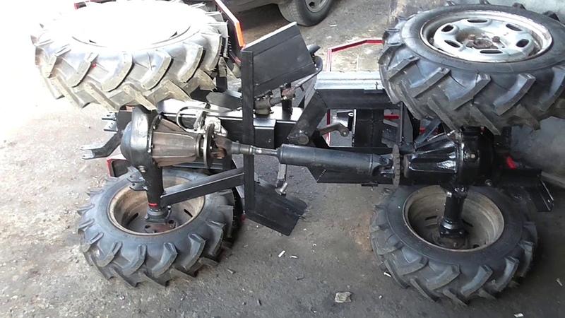 Минитрактор переломка 4х4 18 Сборка трансмиссии и тормозов Minitraktor fracture 4x4 18