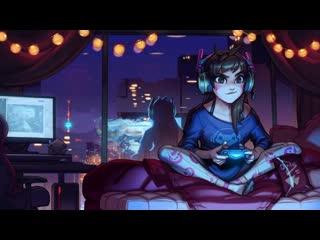 Overwatch играет в снежную ночь / gaming on a snowy night