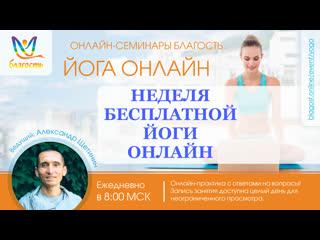 Оздоровление позвоночника, Йога онлайн  Благость с Александром Щетининым