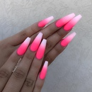pink and white ombre nails - 736×677