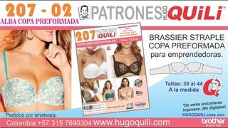 207 02 BRASSIER DE COPA PREFORMADA STRAPLE ALBA
