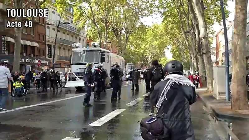 Acte 48 Toulouse : ambiance tendue au centre ville