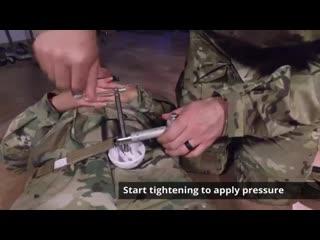 Combat ready clamp (croc) junctional tourniquet application